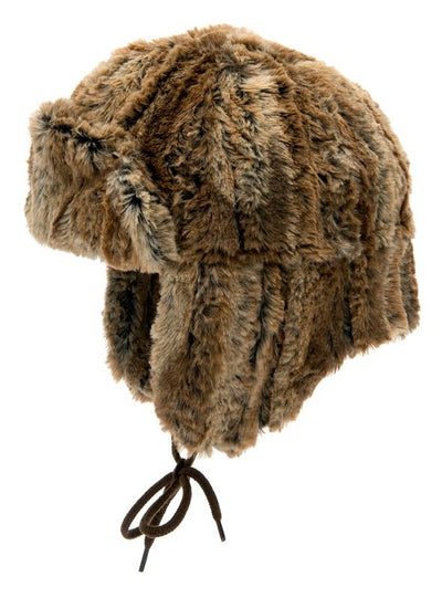 Faux Fur hat - Estrid Jr. Faux fur Brown - CTH MINI