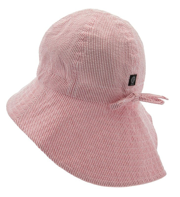 Kids Sun hat - Bianca Jr. Seersucker Red - CTH MINI