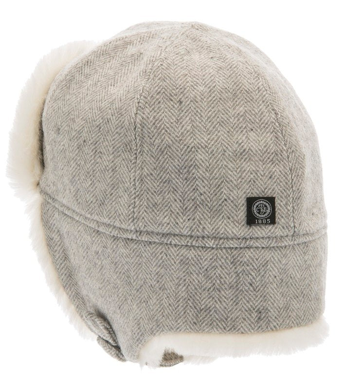 Trapper hat - Winter Alaska Jr. Herringbone Grey - CTH MINI