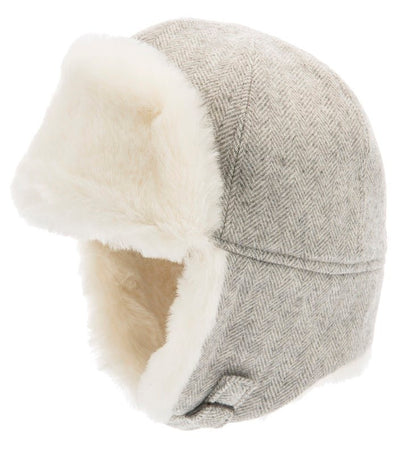 Trapper hat - Alaska Jr. Herringbone Grey - CTH MINI