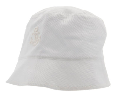 Kids Bucket hat - Jamie Jr. Pique White - CTH MINI