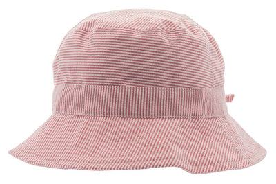 Kids Sun hat - Gillis Jr. Seersucker Red - CTH MINI