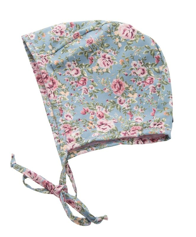 Bonnet - Esther Jr. Roses Light Blue - CTH MINI