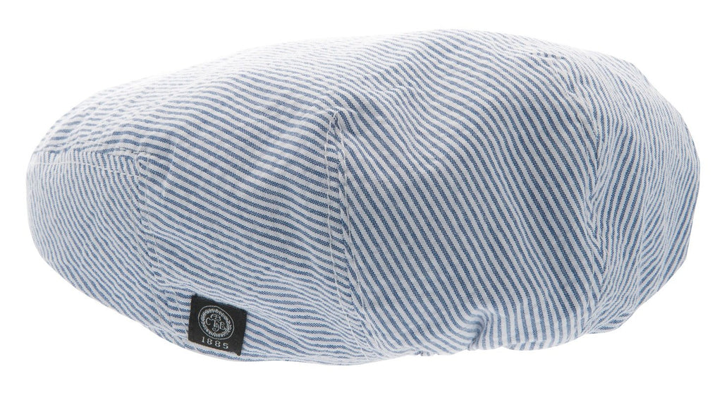 Kids Flat cap - Philip Jr. Seersucker Blue - CTH MINI
