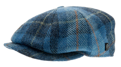 Newsboy cap - Wilson Harris Tweed Plaid Blue - CTH Ericson