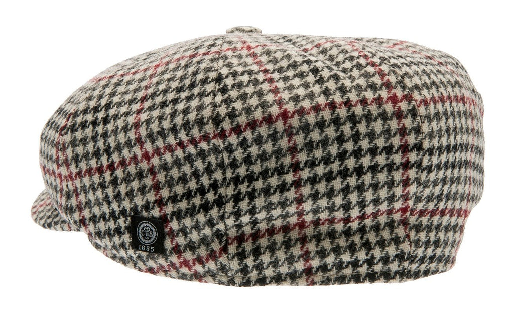 Newsboy cap - Wilson Sr. Dogtooth Black-Wine - CTH Ericson of Sweden