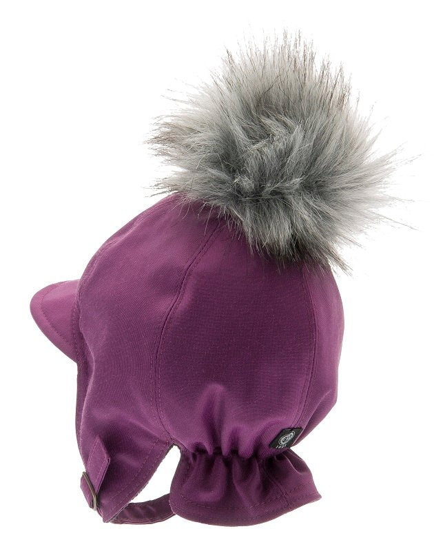 Kids winter hat - Isak Jr. Beaver Purple - CTH MINI