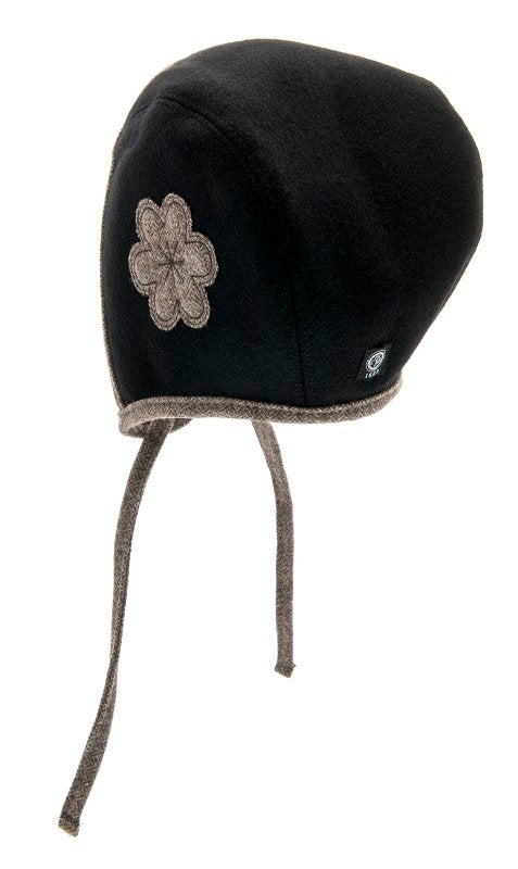 Bonnet - Esther Jr. Flower Black-Brown - CTH MINI
