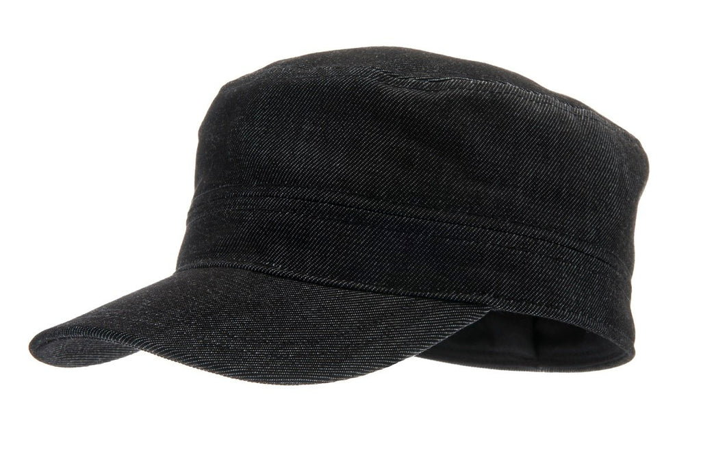 Army cap - Ashton Sr. Denim Black - CTH Ericson of Sweden