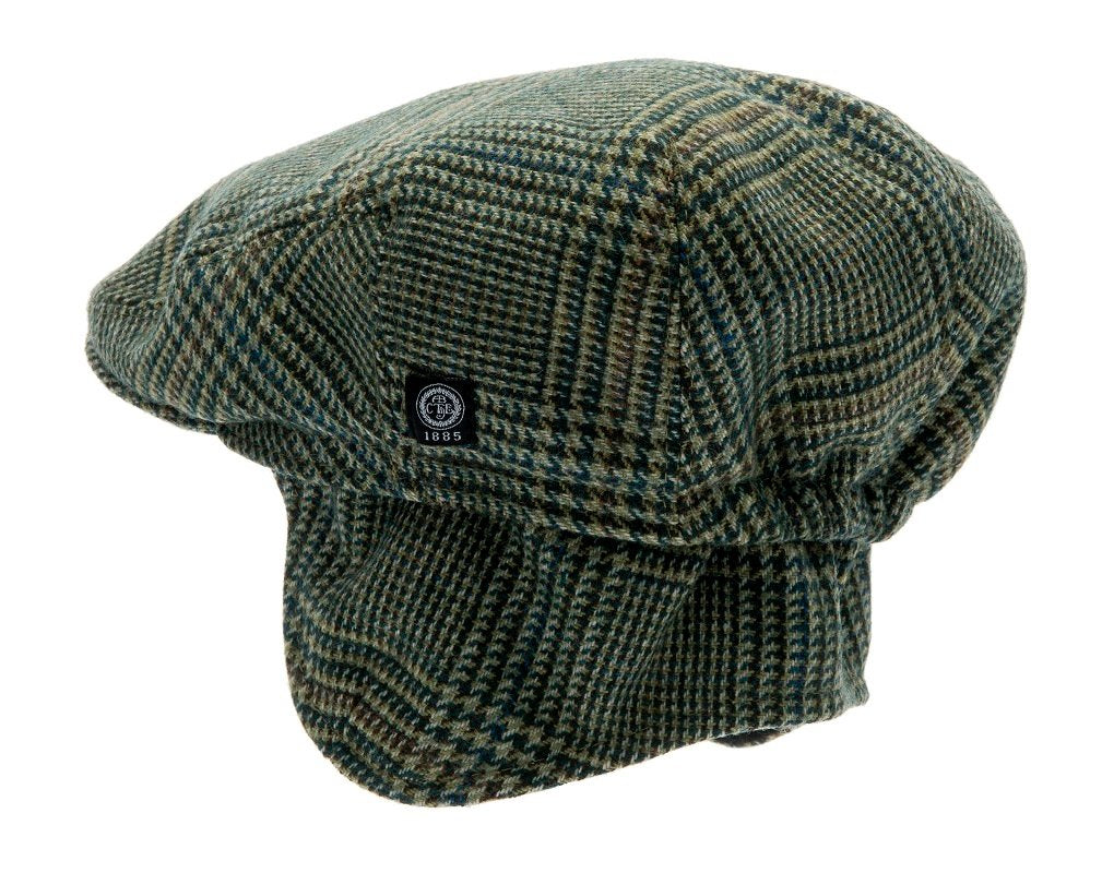 Kids Flat cap - Philip Jr. Glencheck Green - CTH MINI