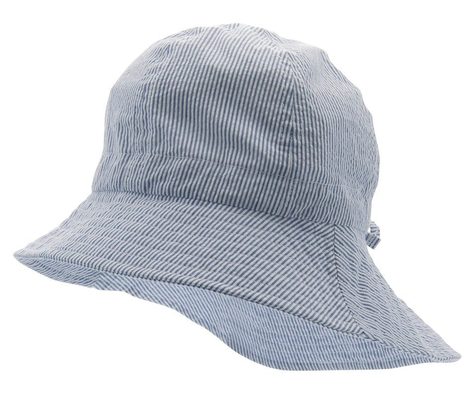 Kids Sun hat - Bianca Jr. Seersucker Blue - CTH MINI