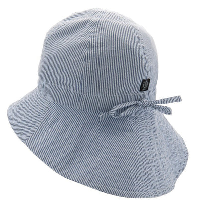Sun hat - Bianca Jr. Seersucker Blue - CTH MINI