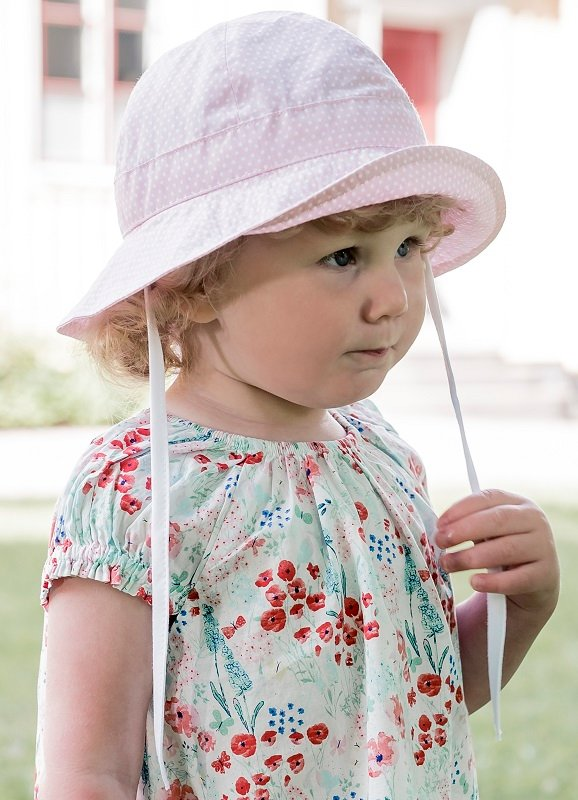 Kids Bucket hat - Carrie Jr. Polka Dot Pale Pink - CTH MINI