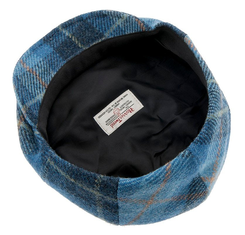 Newsboy cap - Wilson Sr. Harris Tweed Plaid Blue - CTH Ericson