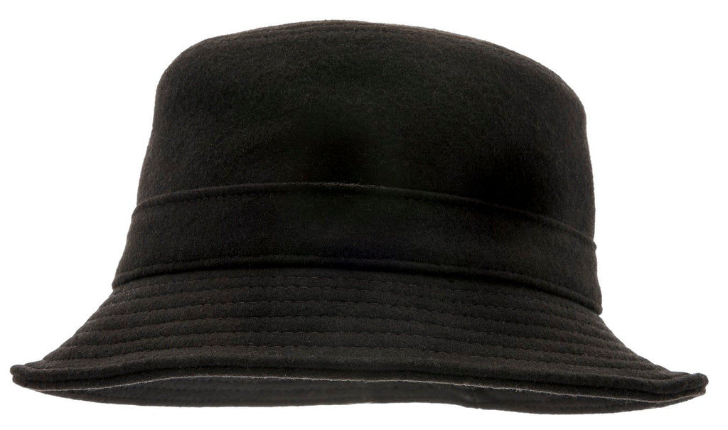 Bucket hat - Ian Sr. Melton Black - CTH Ericson of Sweden