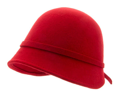 Felt hat - Analise Sr. Cloche felt hat Red - CTH Ericson