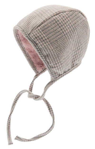 Bonnet - Esther Jr. Glencheck Pink-Grey - CTH MINI