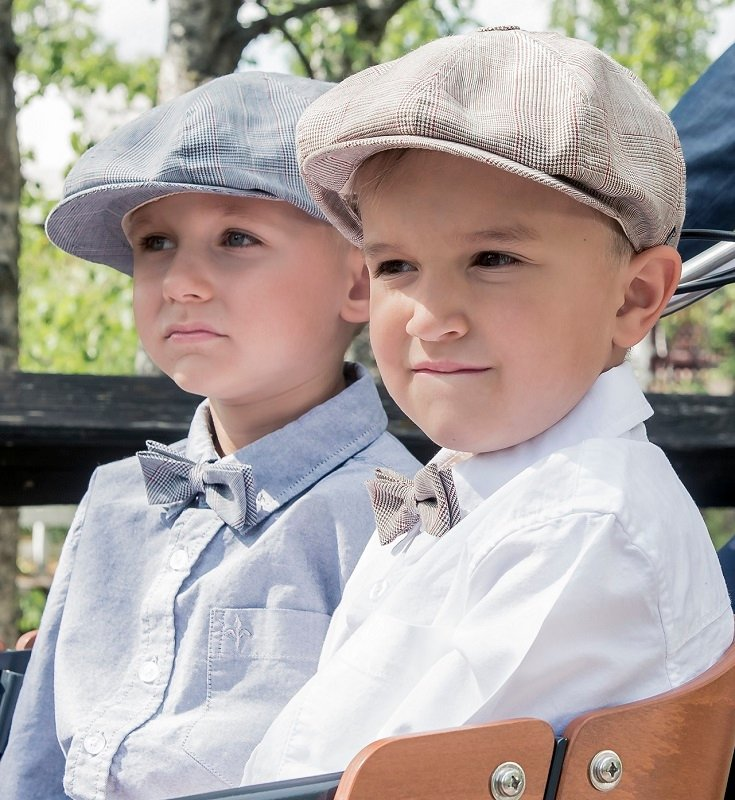 Kids Newsboy cap - Lorentz Jr. Estate Brown - CTH MINI