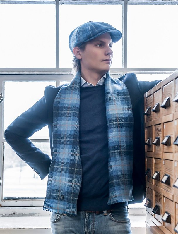 Edgar Sr. Harris Tweed Plaid Blue