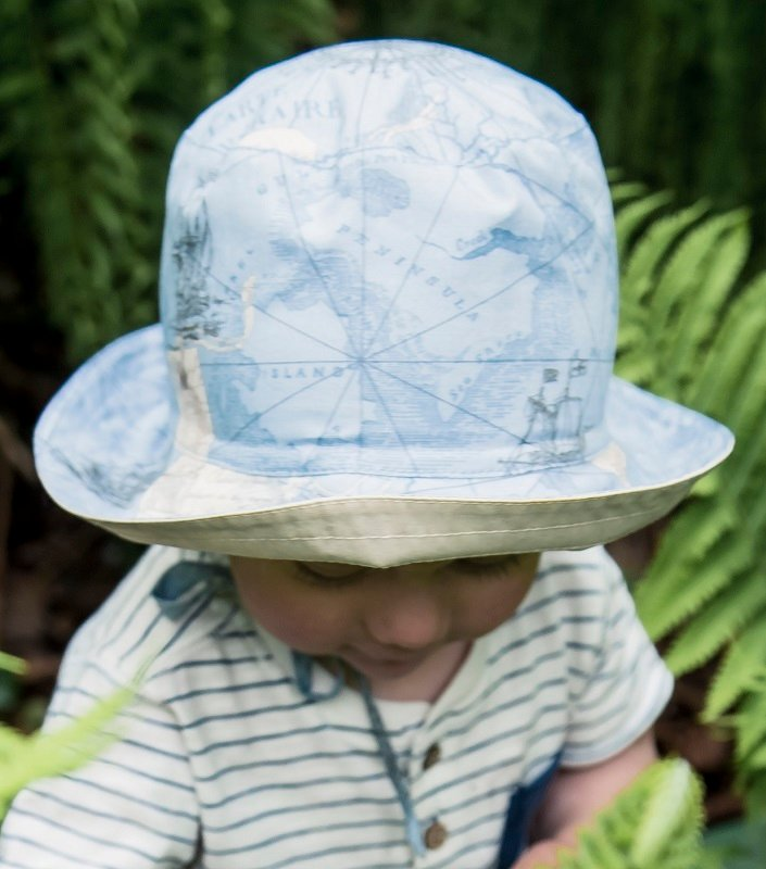Baby Sun hat - Indra Jr. Seafare Blue - CTH MINI