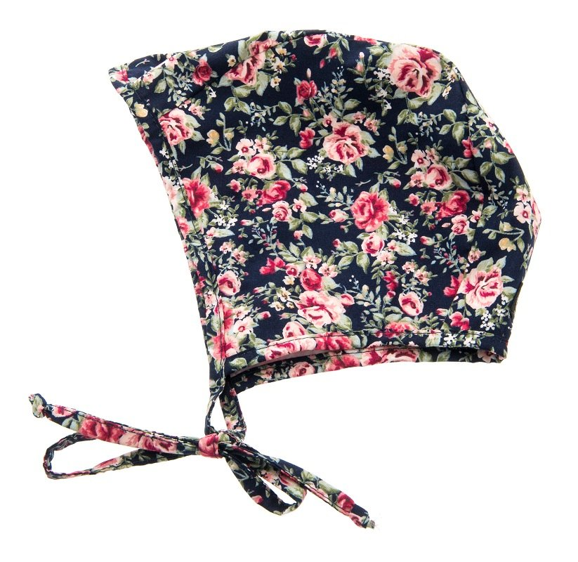 Bonnet - Esther Jr. Roses Dark Blue - CTH MINI