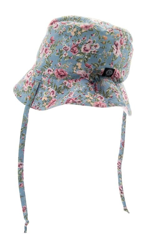 Baby Sun hat - Indra Jr. Roses Light Blue - CTH MINI