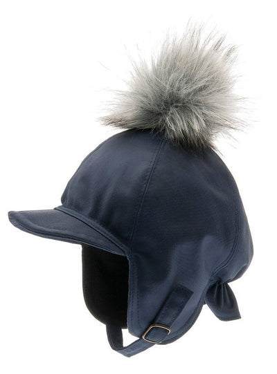 Kids winter hat - Isak Jr. Beaver Blue - CTH MINI