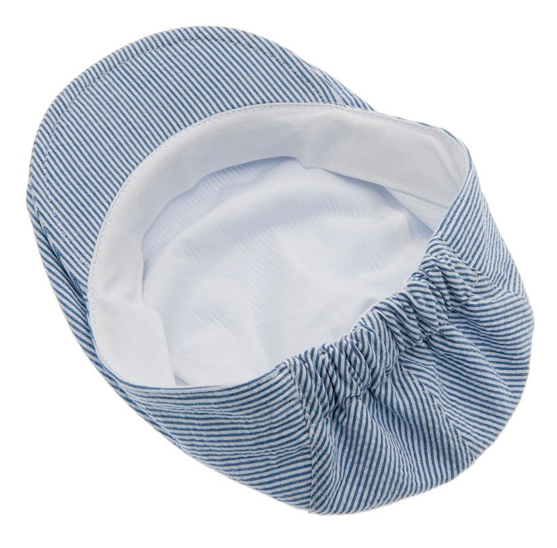 Kids Flat cap - Jens Jr. Seersucker Blue - CTH MINI