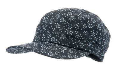 Army cap - Fabien Jr. Denim Flower Blue - CTH MINI