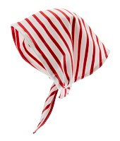 Head scarf - Sara Jr. Nautic Stripe White/Red - CTH MINI