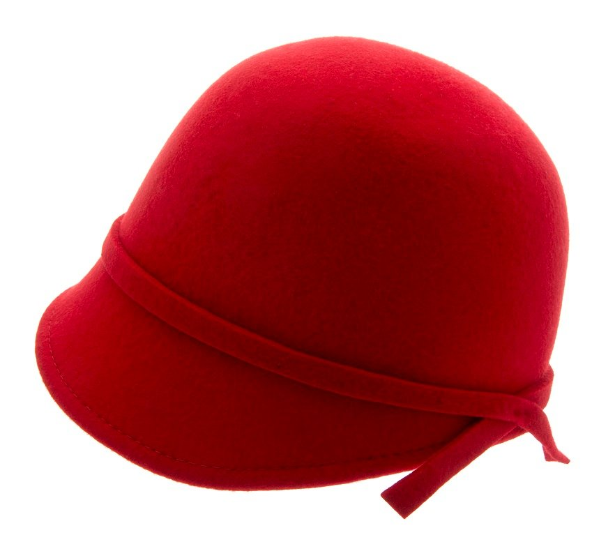 Analise Sr. Cloche felt hat Red