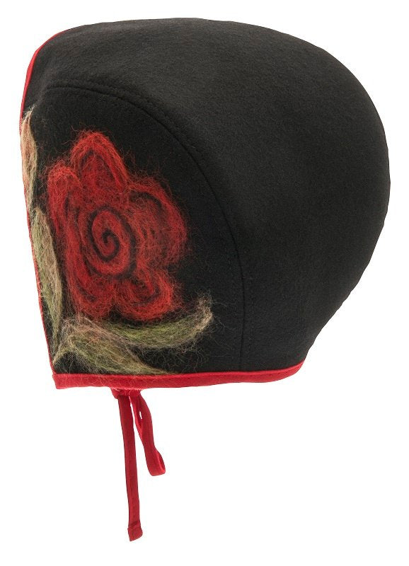 Bonnet - Emma Jr. Folklore Black/Red - CTH MINI