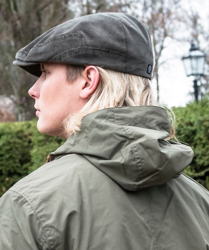 Flat cap - Lucas Sr. Soft Cord Olive - CTH Ericson of Sweden