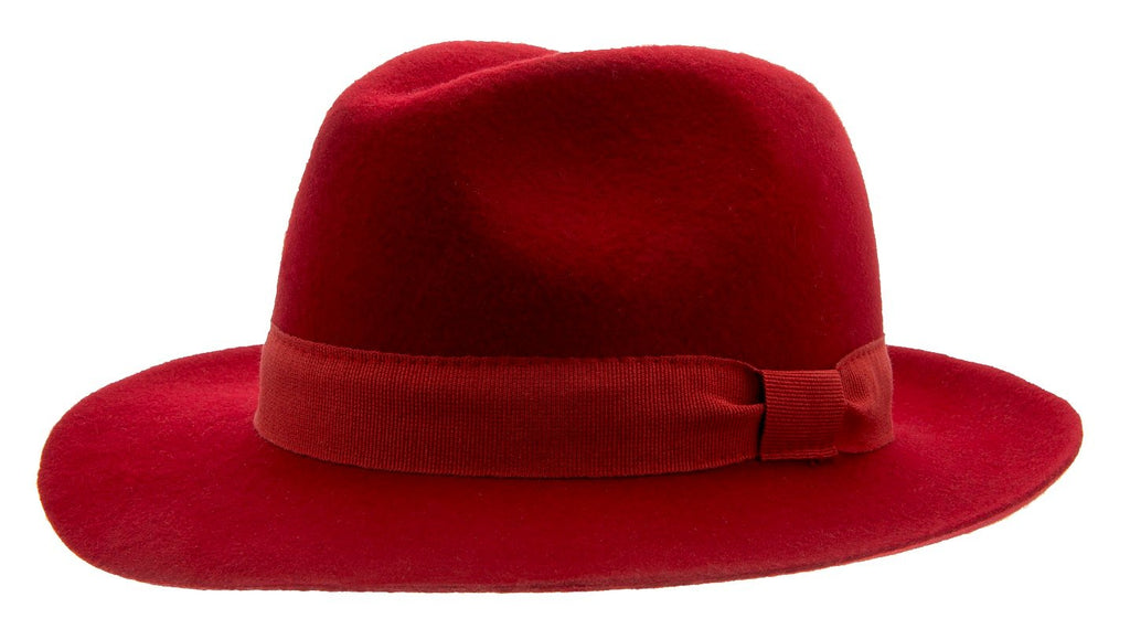 Aria Sr. Fedora felt hat Red