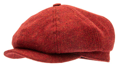 Newsboy cap - Alan Moon Shetland Red - CTH Ericson