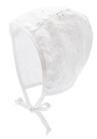 Summer cap for girls - Hilda Jr. Eyelet White - CTH MINI