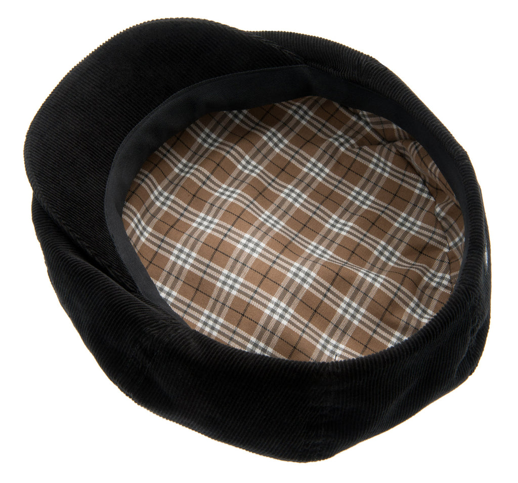 Newsboy cap - Olle Sr. Soft cord Black - CTH Ericson of Sweden