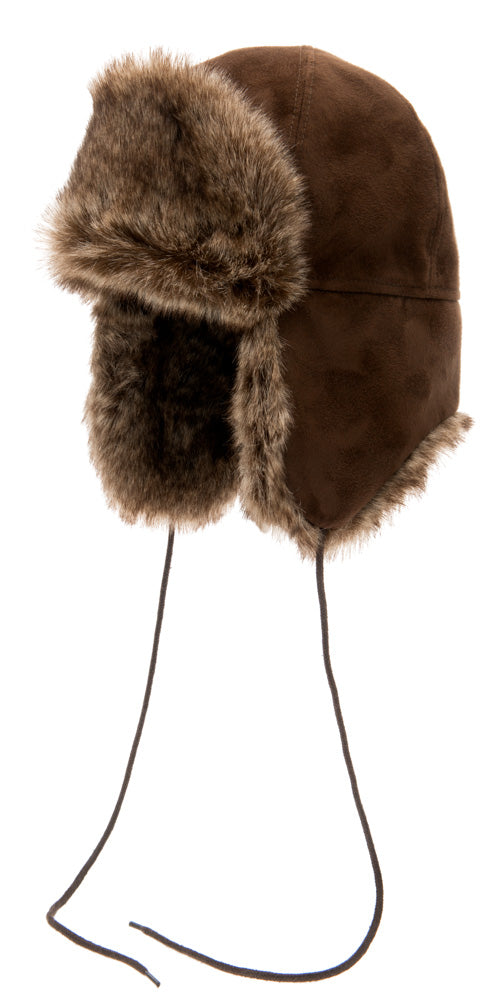 Faux Fur hat - Esbjörn Sr. Faux Suede Brown - CTH Ericson of Sweden