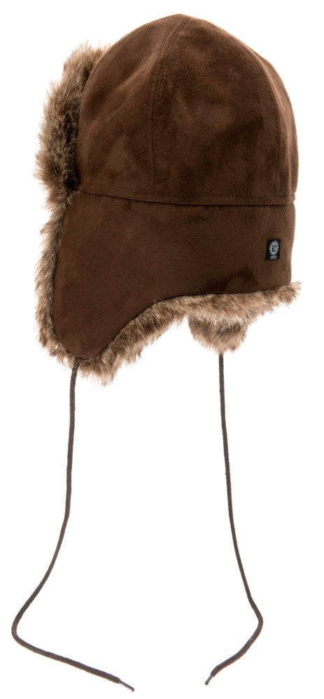 Faux Fur hat - Esbjörn Jr. Faux Suede Brown - CTH MINI