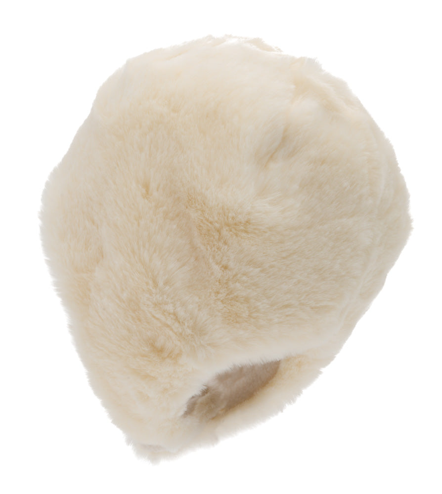 Faux Fur hat - Birgitta Jr. Faux Fur White - CTH MINI