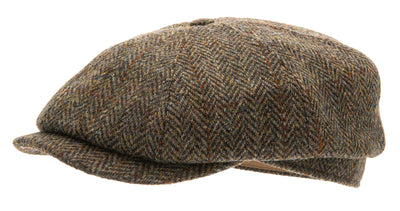 Newsboy cap - Alan Sr. Harris Tweed Green - CTH Ericson