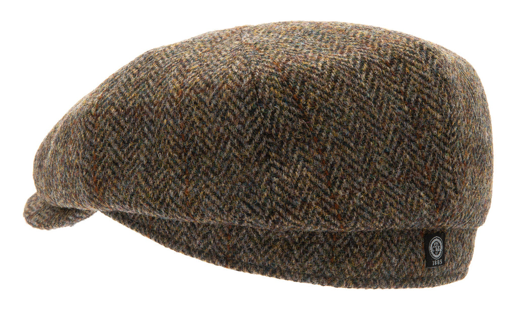 Newsboy cap - Alan Sr. Harris Tweed Green - CTH Ericson of Sweden