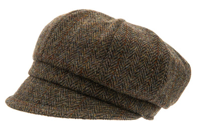 Women's Hat - Regina Sr. Harris Tweed Green - CTH Ericson