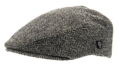 Flat cap - Edward Sr. Harris Tweed Black - CTH Ericson