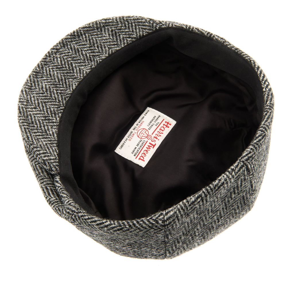 Flat cap - Edward Sr. Harris Tweed Black - CTH Ericson of Sweden
