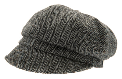 Women's Hat - Regina Sr. Harris Tweed Black - CTH Ericson