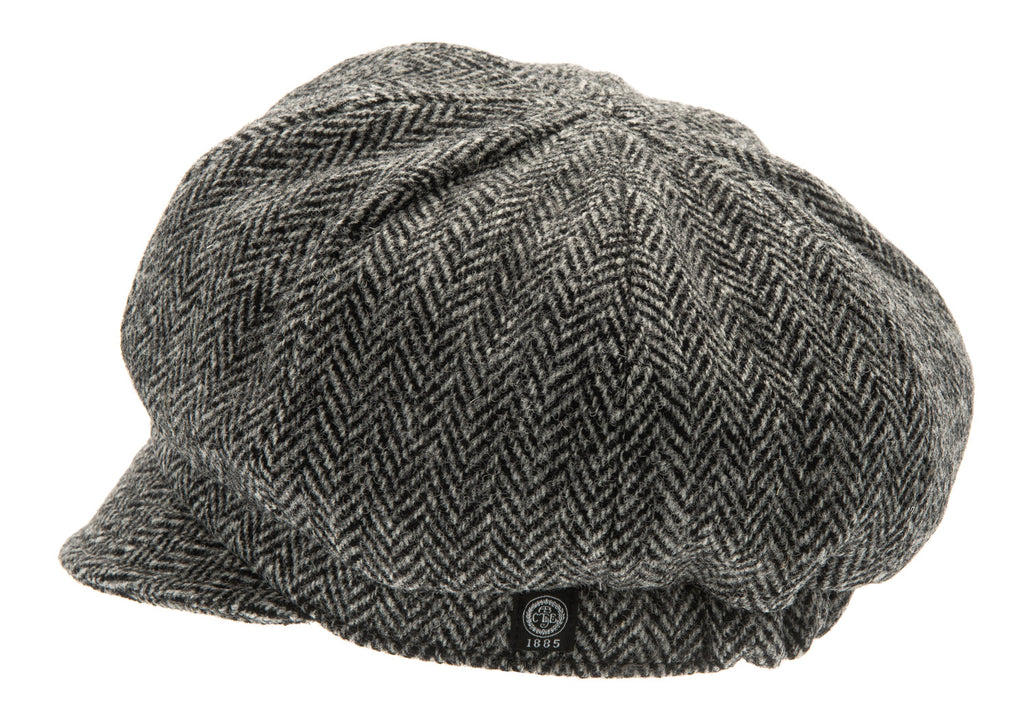 Women's Hat - Regina Sr. Harris Tweed Black - CTH Ericson of Sweden