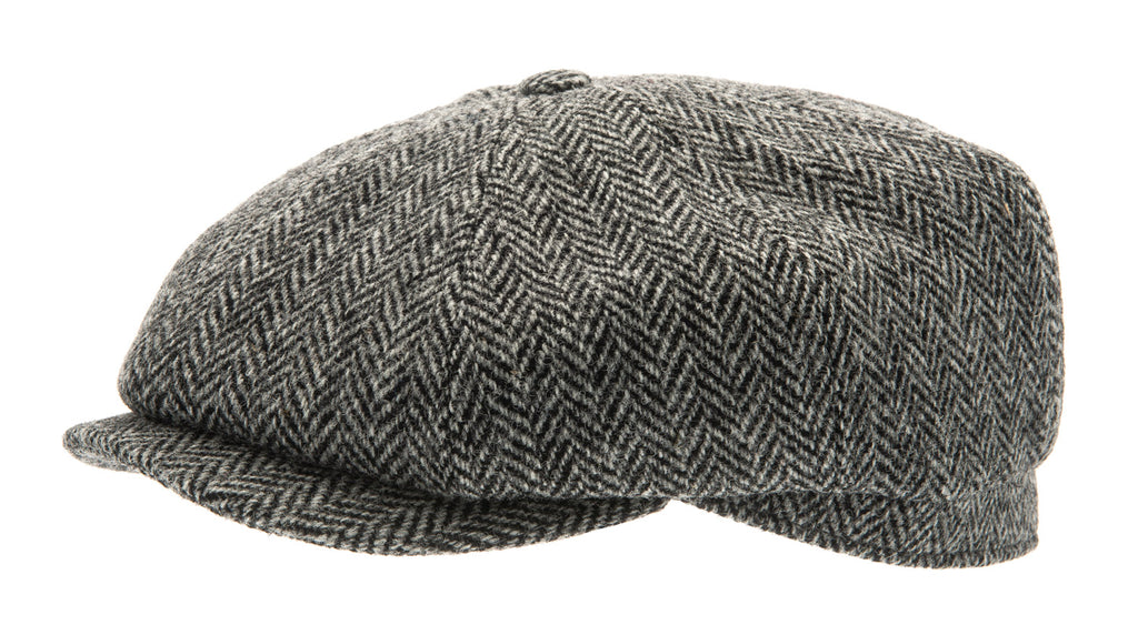Newsboy cap - Alan Sr. Harris Tweed Black - CTH Ericson of Sweden