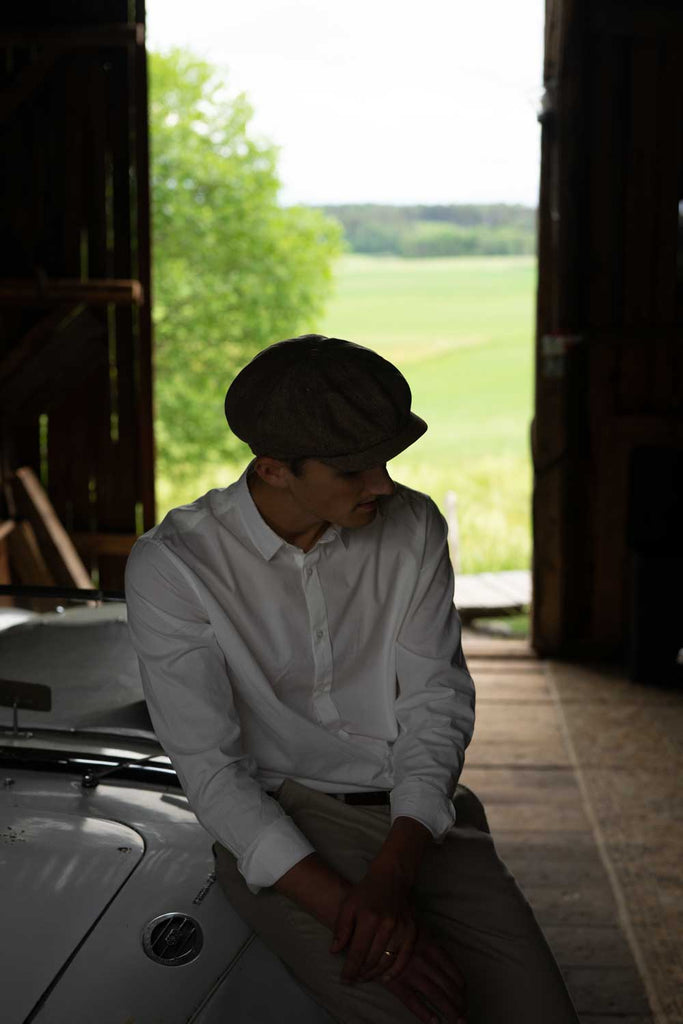 Newsboy cap - Alan Sr. Belo Brown - CTH Ericson of Sweden