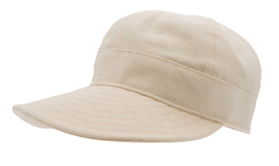 Women's cap with large peak - Laura Sr. Cotolino Beige - CTH Ericson